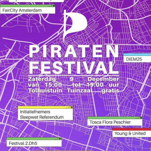 Piratenfestival en ALV 9 december