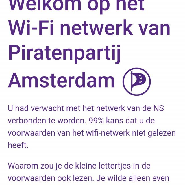 Piratenpartij 'hackt' WiFi NS